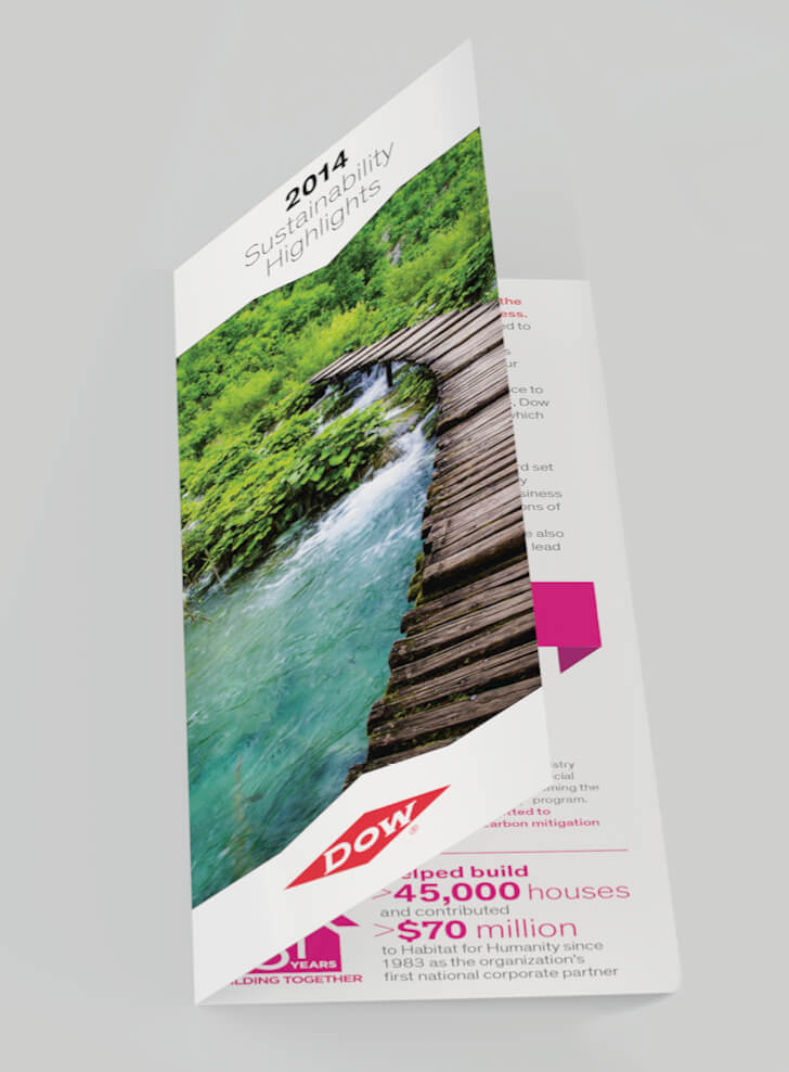 dow sustainability highlights trifold cover image