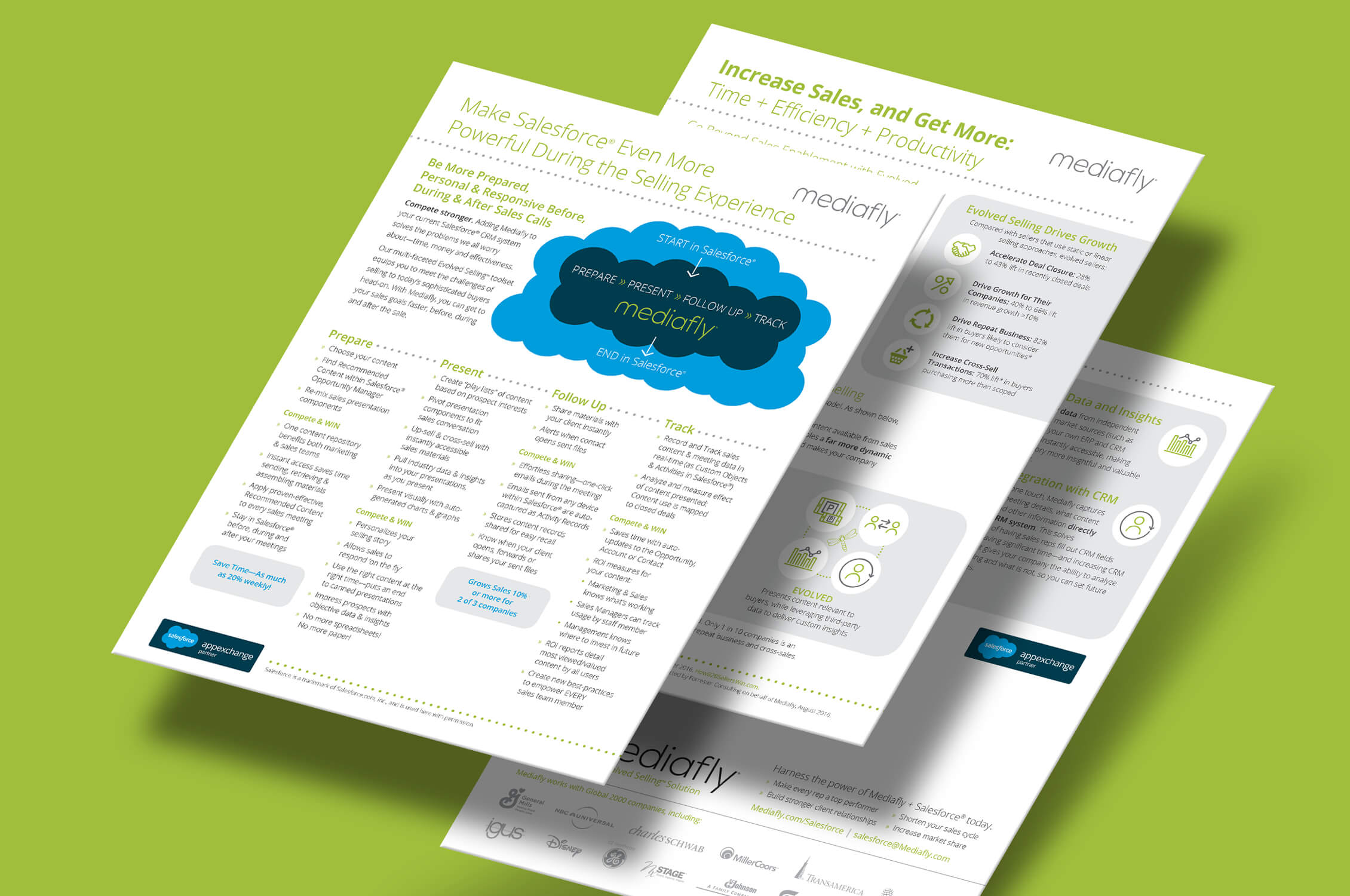 Mediafly Dreamforce 2017 one pagers image 01